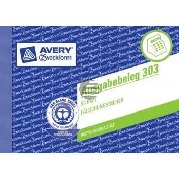 AZ Ausgabenbeleg A6 50 Blatt, quer Avery Zweckform