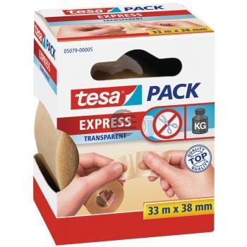 Tesapack Packband Express 38 mm x 33 m braun von Hand einreissbar