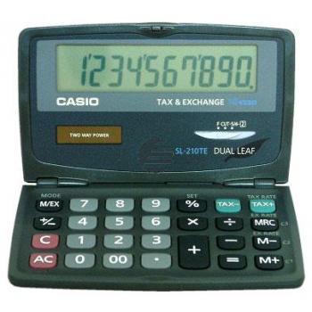 Casio Taschenrechner SL-210TE 10-stellig Solar/Batterie Prozent/Währung/Mwst
