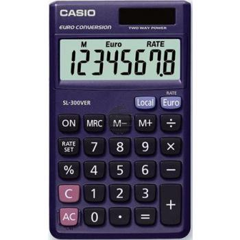 Casio Taschenrechner SL-300VER 8-stellig Solar/Batterie Prozent/Euro