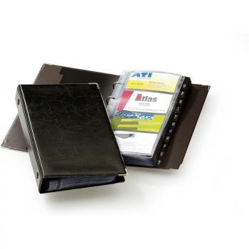 Durable Visitenkarten-Ringbuch Visifix schwarz bis 400 Karten