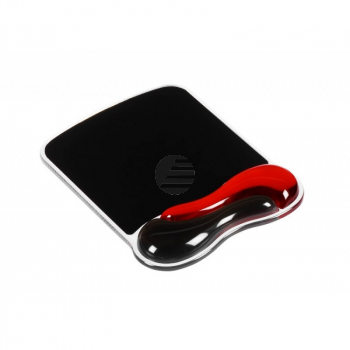 Acco Mausmatte rot/schwarz Softgel/Kunststoff 280 x 295 x 28 mm