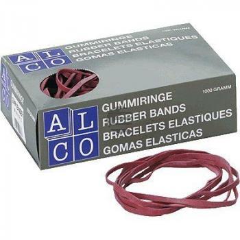 Alco Gummibänder im Karton rot 1.000 g 200 x 6 mm