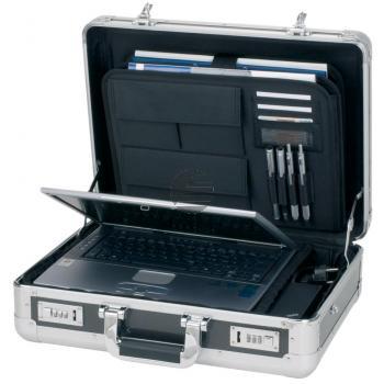 Alumaxx Alu-Aktenkoffer mit Carbon-Optik 45,5 x 33,5 x 10 cm