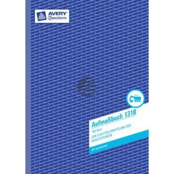 AZ Aufmassbuch 1318 A4 hoch weiß Inh.100 Blatt Avery Zweckform