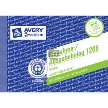 AZ Einnahme-Ausgabebeleg 1205 A6 Inh.50 Blatt Avery Zweckform
