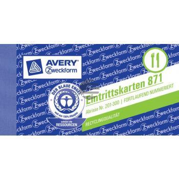 AZ Eintrittskarten 871 Inh.5 105 x 53 mm Avery Zweckform