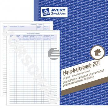 AZ Haushaltsbuch 201 A5 Inh.36 Blatt Avery Zweckform