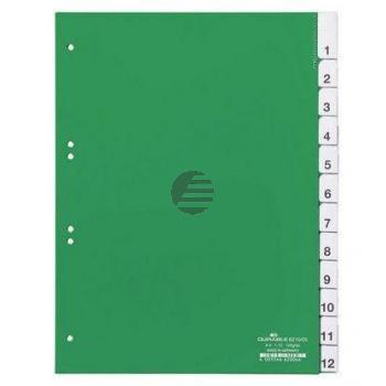 Durable Register A4 hoch PP grün 12-teilig blanko