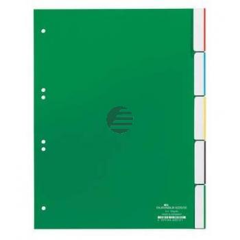 Durable Register A4 hoch PP grün 5-teilig blanko