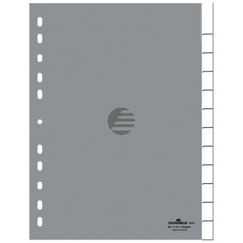 Durable Register A4 hoch PP grau 12-teilig blanko