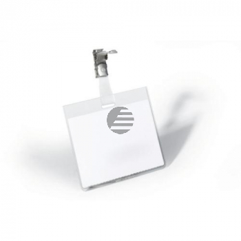 Durable Namensschilder drehbarer Clip farblos Inh.25 60 x 90 mm