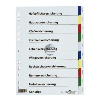 Durable Versicherungsregister A4 farbiger Ablauf