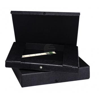 Elba Dokumentenbox schwarz Hartpappe Inh.580 Blatt 315 x 240 x 65mm