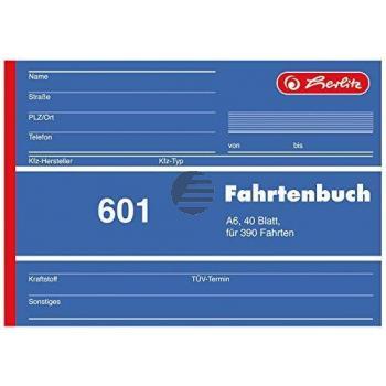 Herlitz Fahrtenbuch A6 40 Blatt