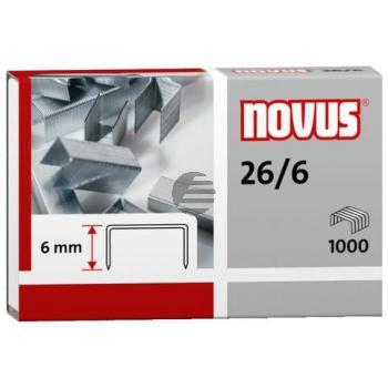 Novus Heftklammern 26/6 Inh.1000
