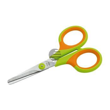 Wedo Kinderschere Soft-Kid 11,0 cm rund grün/orange für Linkshänder