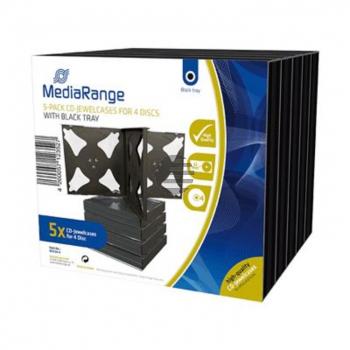 Mediarange CD Jewelcase (10) 14mm black für 4 Stück Retailpack