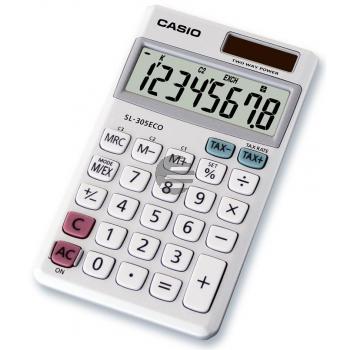 Casio Taschenrechner SL-305ECO 8-stellig Solar/Batterie