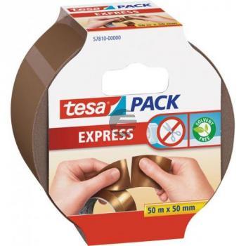 Tesapack Express braun 55 mm x 50 m von Hand einreißbar