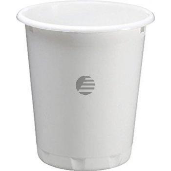 Durable Papierkorb weiß 13 l, H 32 cm, ø 29 cm