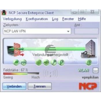 Ncp Secure Entry Vpn/Pki Client für Windows 2000/Xp 32-und 64 Bit und Vista 32-und 64- Bit 1-9 User