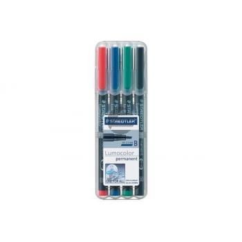 STAEDTLER Lumocolor permanent 1/2,5mm(B) 314 WP4 4 Farben ass.