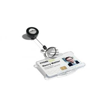 DURABLE Ausweiskarten-Halter 822258 10 Stück mit Schlüsselring